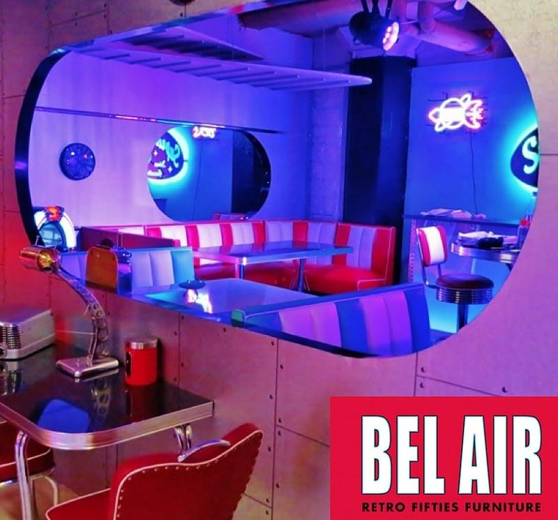 Bel Air 50ies diner corner booth / RED