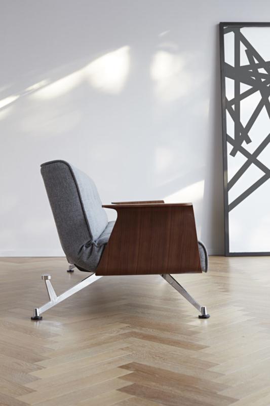 Clubber chair -  walnoot armleuningen