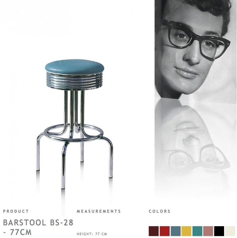 BS-28-77 Bel Air - Fities blue barstool