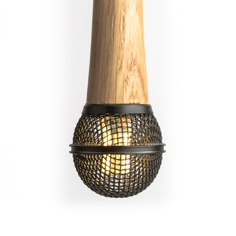 Microphone Hanglamp Shure SM58 Wooden Black