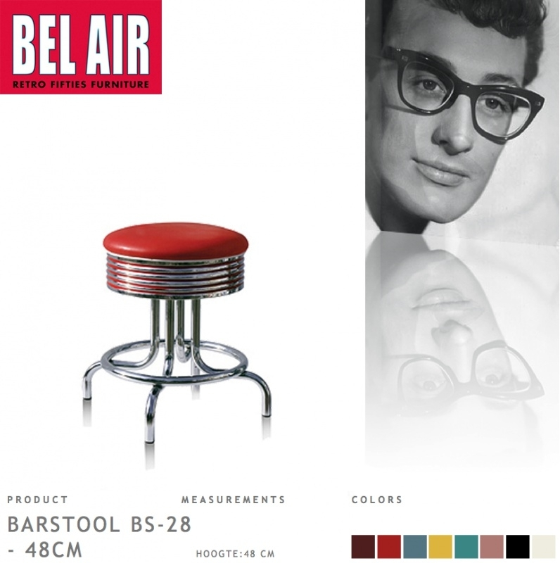 Bel Air kruk BS-28-48 red