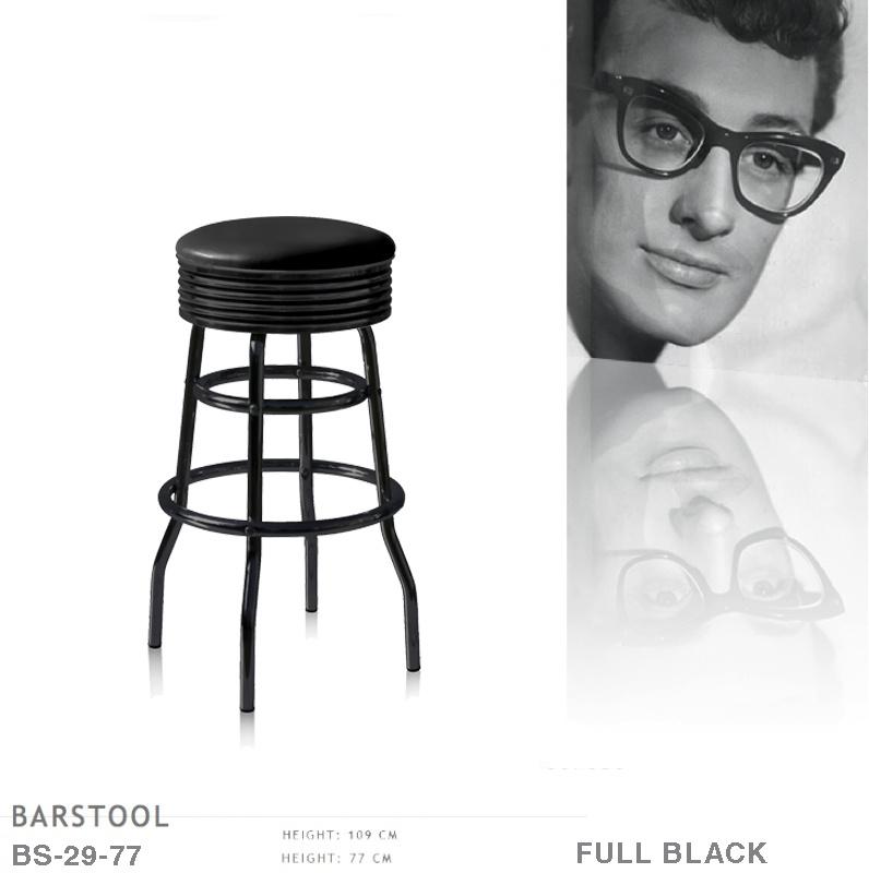 BS-29-77 Full Black Bel Air barstool