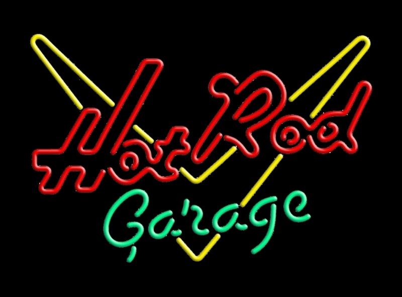 Neon lamp Hot Rod Garage