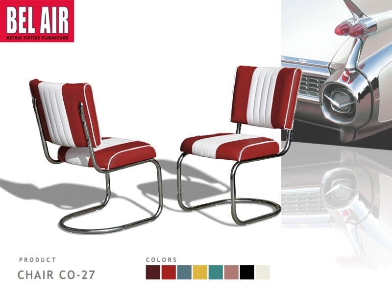 Bel Air Diner chair CO-27 ruby
