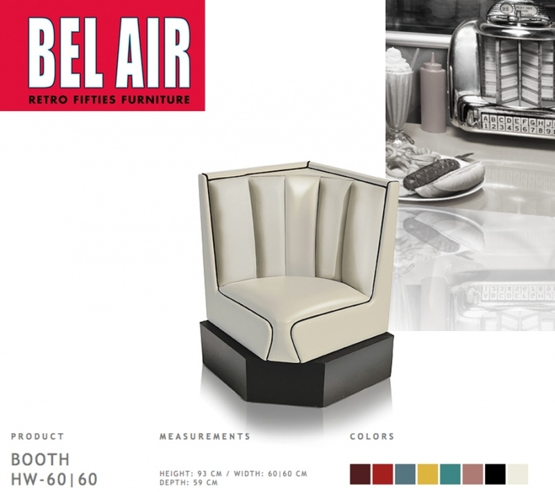 Bel Air 50ies diner corner booth / OFF WHITE
