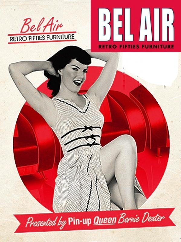 BEL AIR 50ies retro furniture SF-01-CB / Red
