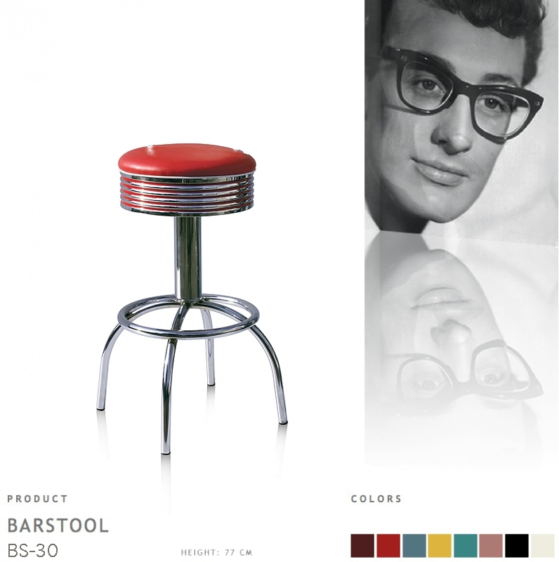 BS-30-77 Bel Air barstool - red