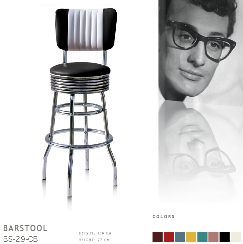 BS-29-77CB Bel Air barstool - black
