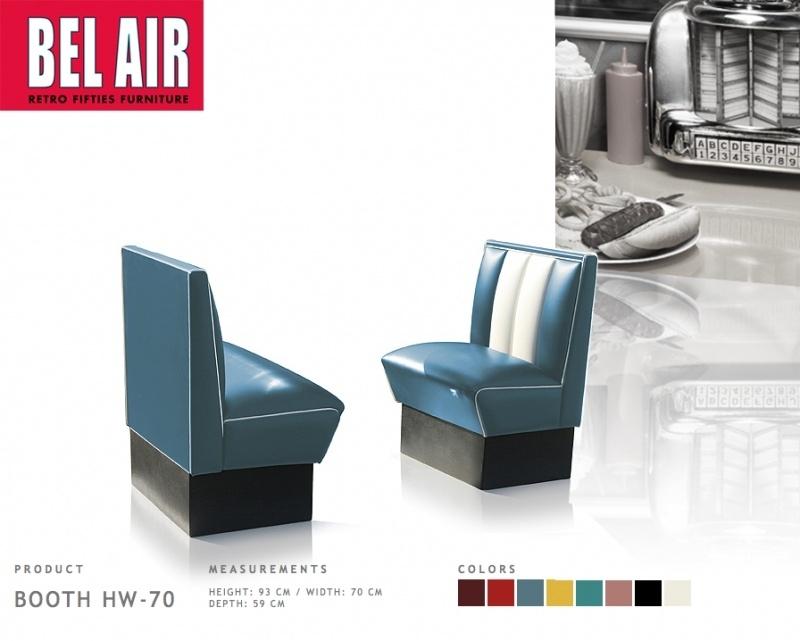 Bel Air HW-70 50ies diner booth Vintage Blue
