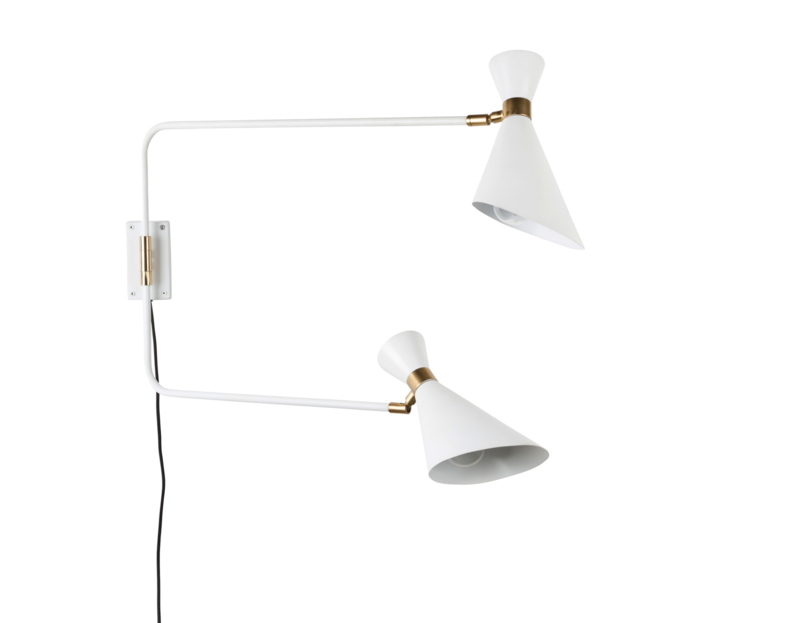 Wandlamp Shady double Zuiver wit