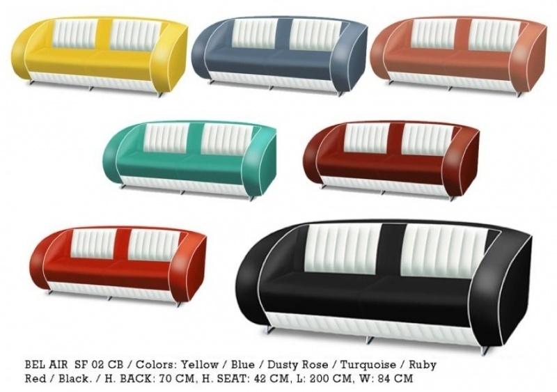 BEL AIR retro 50ies sofa - SF 02 CB - Black