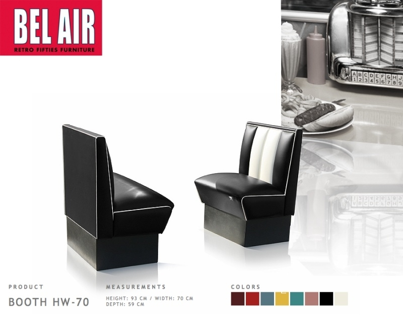 Bel Air HW-70 Amerikaans diner furniture 50ies