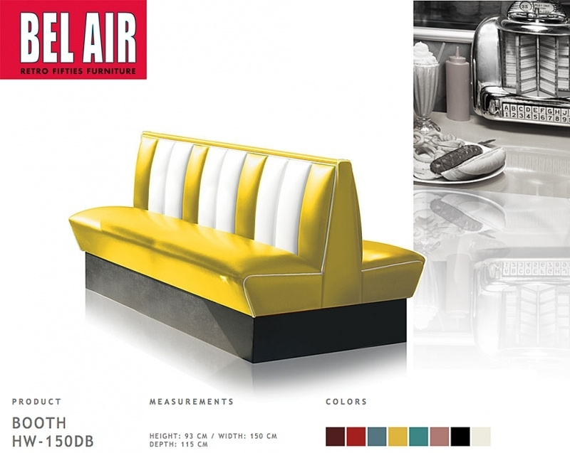 Bel Air HW-150 retro diner booth 50ies, Yellow