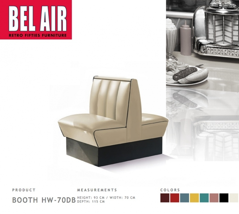 Bel Air Double Diner 50'ies HW-70DB / OFF WHITE