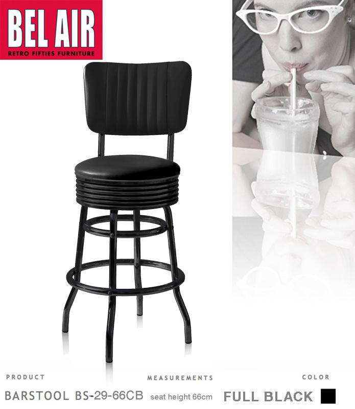 Bel Air BS-29-CB 66 Fifties kruk Full Black