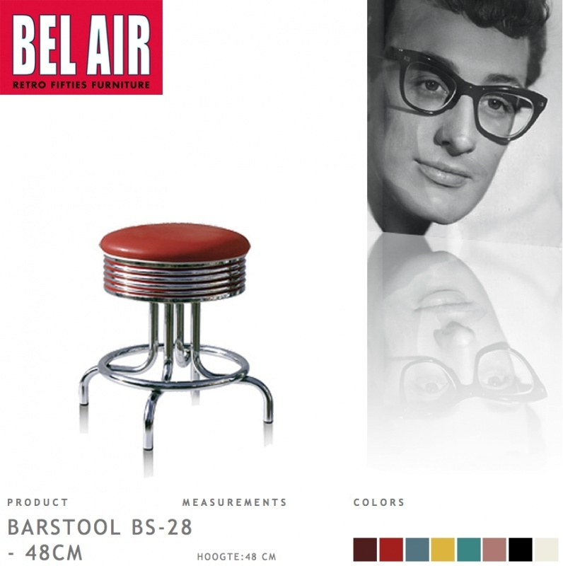 Bel Air kruk BS-28-48 ruby