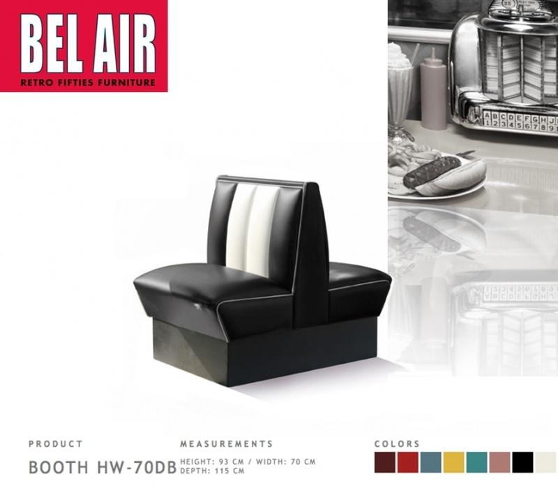 Bel Air Double Diner 50'ies HW-70DB / BLACK