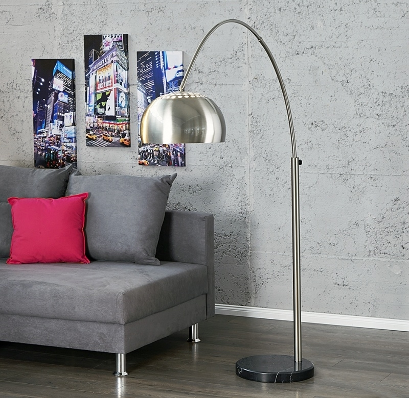 Booglamp vloerlamp - Big Lounge brushed