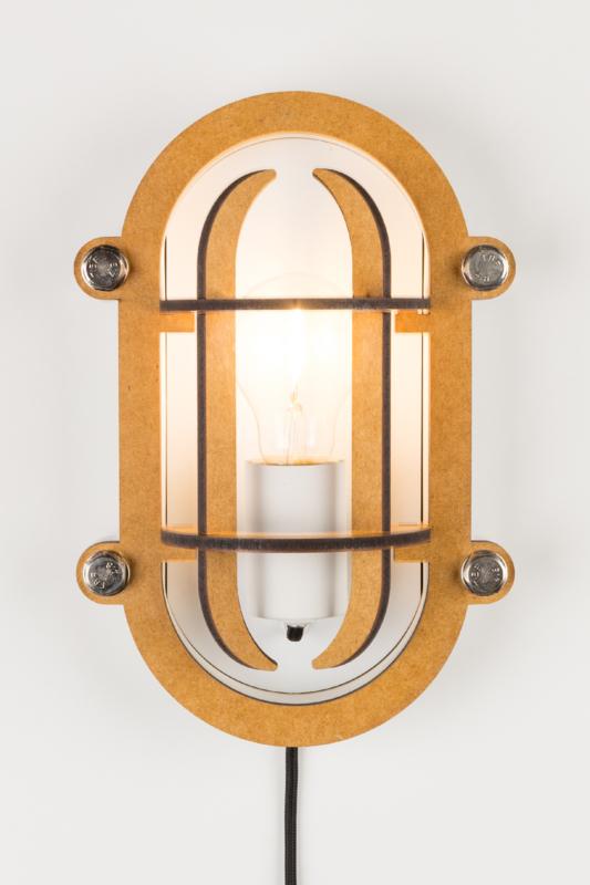 Navigator wandlamp wit