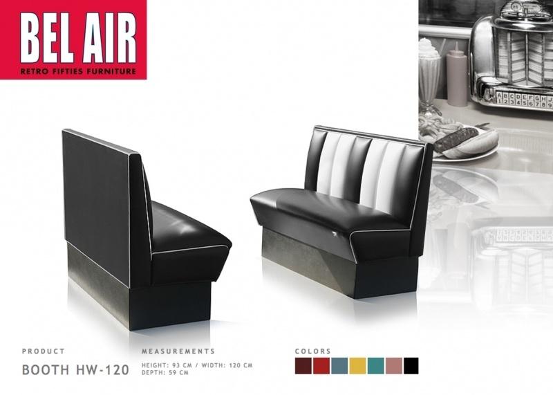 BEL AIR HW-120 Retro Diner booth BLACK