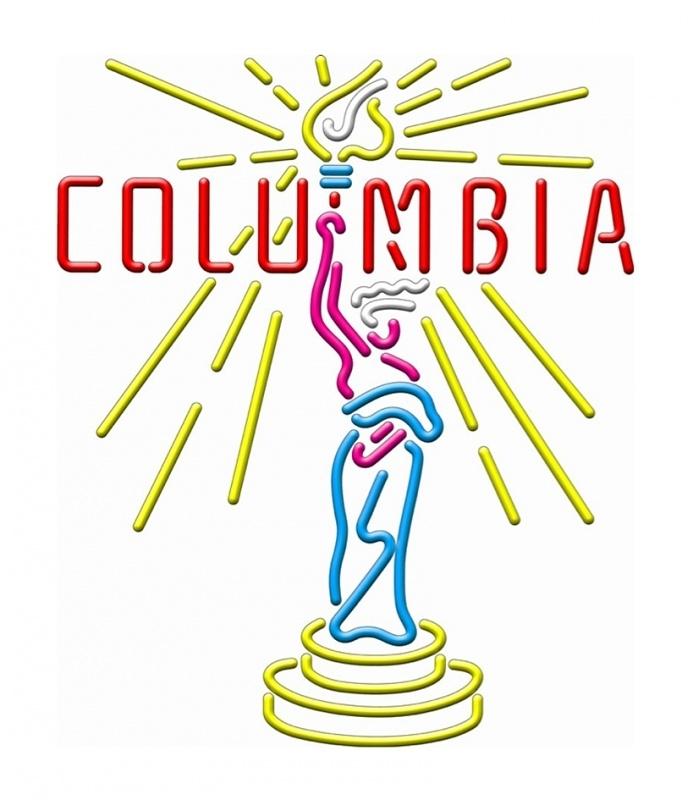 Neon sign retro - Columbia