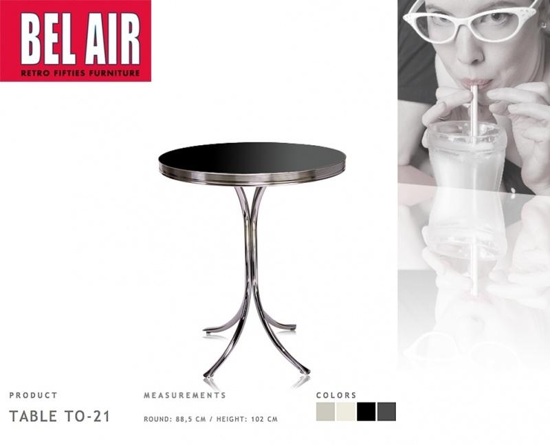 TO-21 Bel Air Diner bartable - bartafel