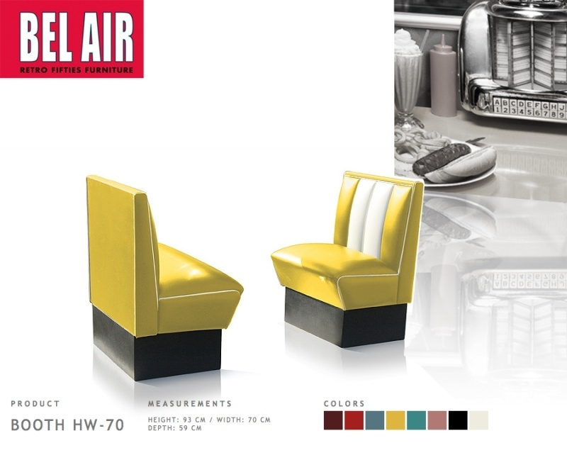 Bel Air HW-70 retro 50ies diner booth / Yellow