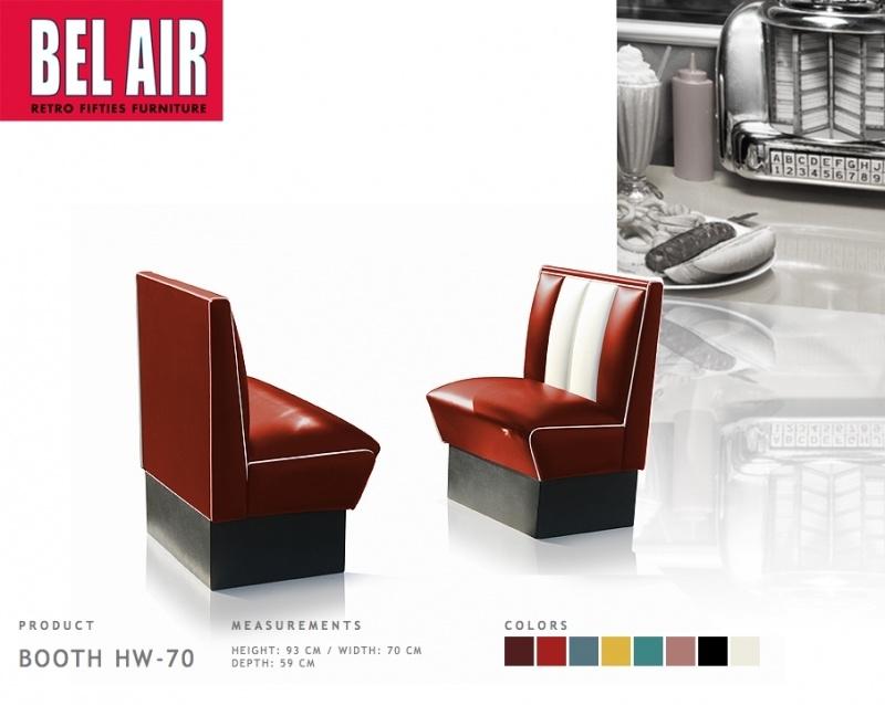 Bel Air HW-70 - 50's diner booth Ruby