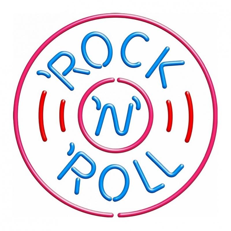 Neon verlichting retro - Rock and Roll