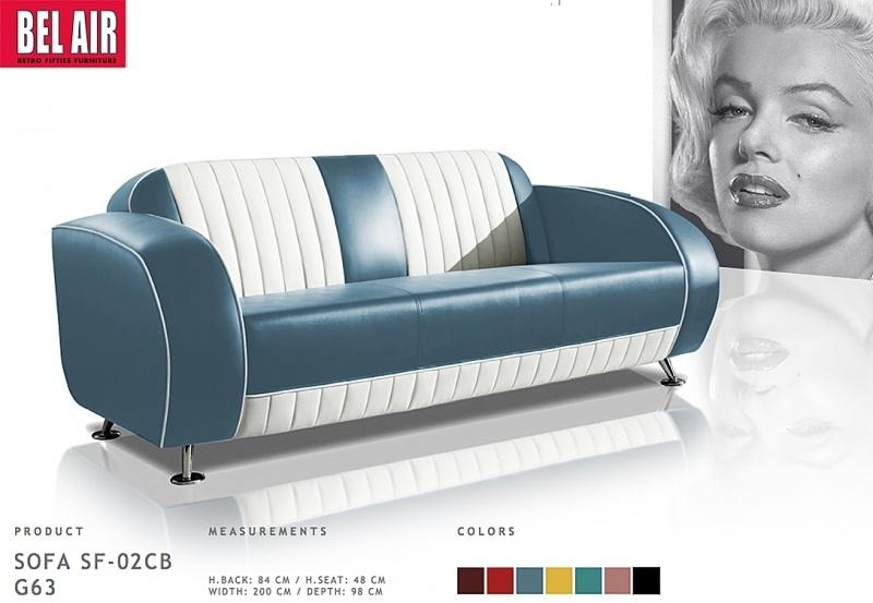 50's retro rock & roll zit meubilair / Blue