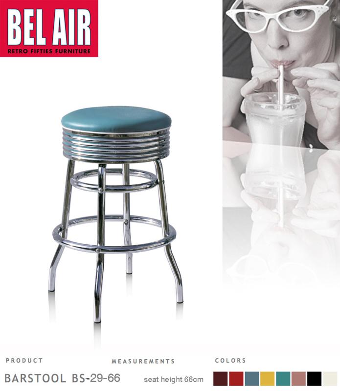 Bel Air BS-29 Fifties kruk Blue