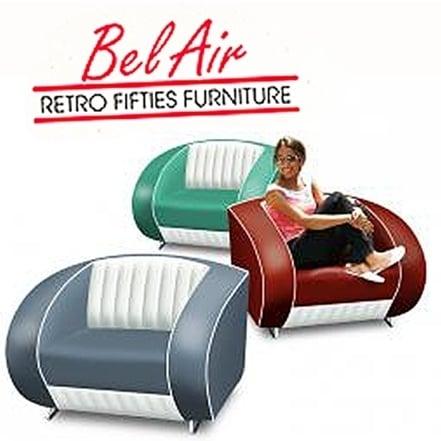 Bel Air SF-01CB retro fauteuil / Yellow