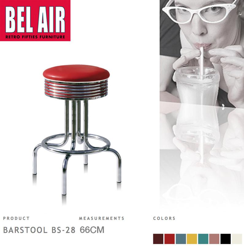 Bel Air BS-28 Barkruk Rood