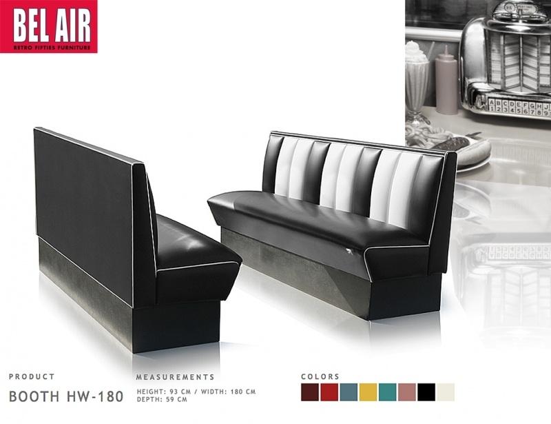 BEL AIR retro diner furniture HW-180, BLACK