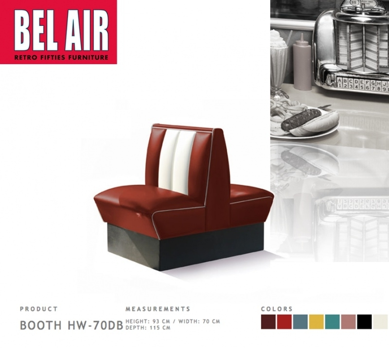 Bel Air Double Diner 50'ies HW-70DB / RUBY RED