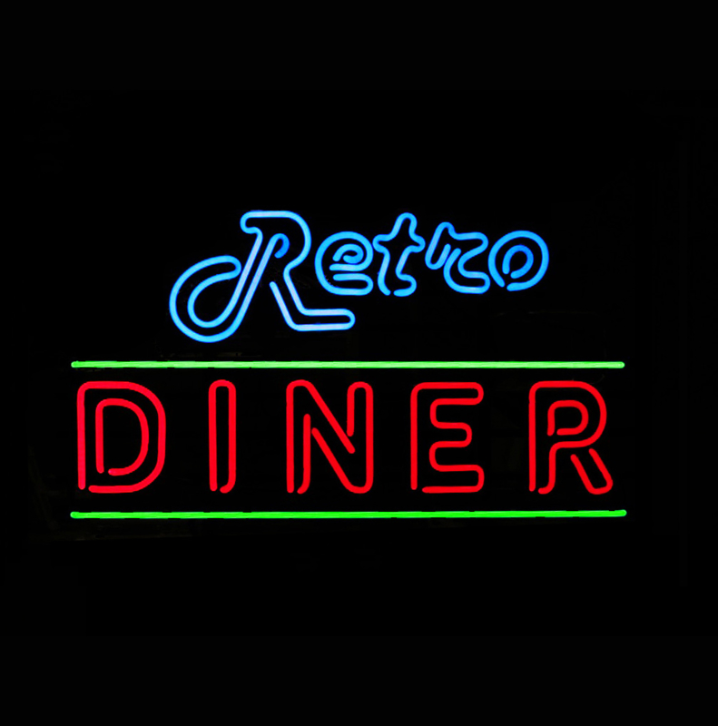 Retro Diner Neon Bel Air
