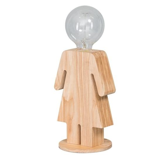 Tafellamp hout Adam_Eve