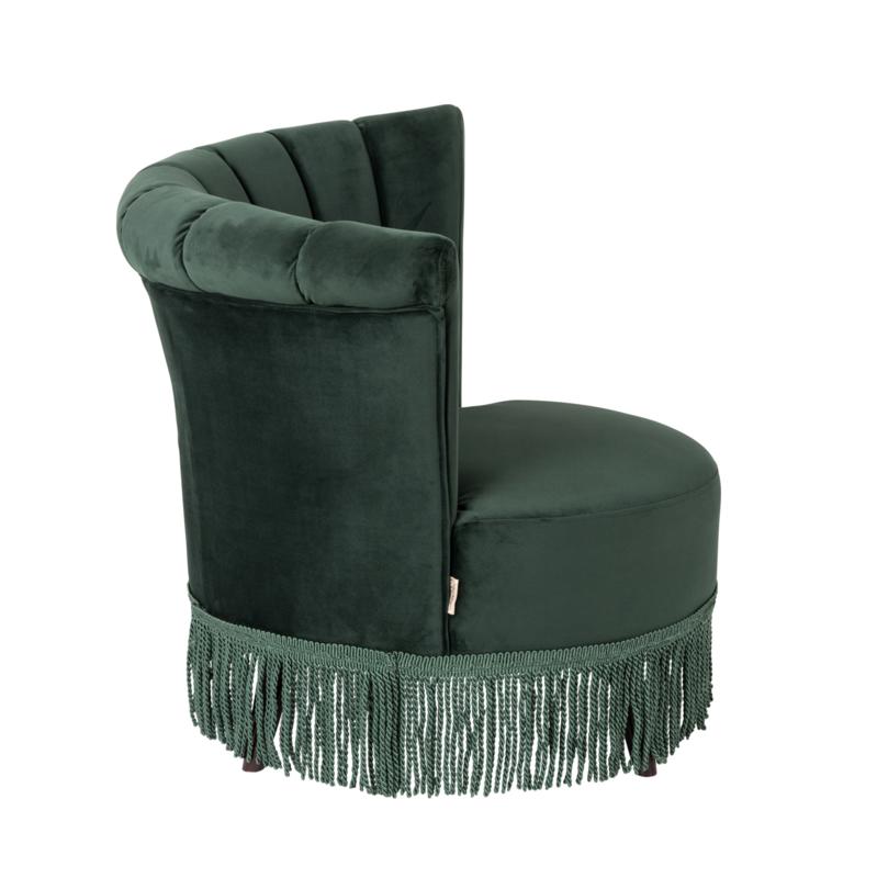 Flair classic lounge chair groen fluweel