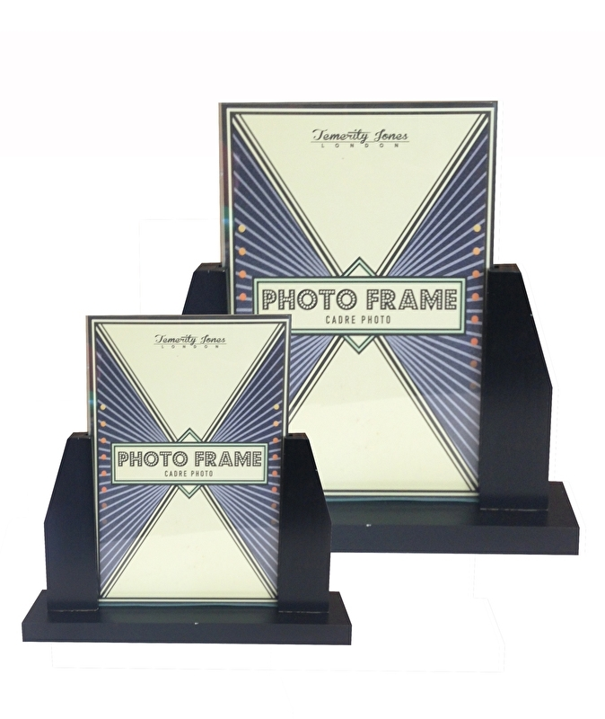 Art Deco black photo frame