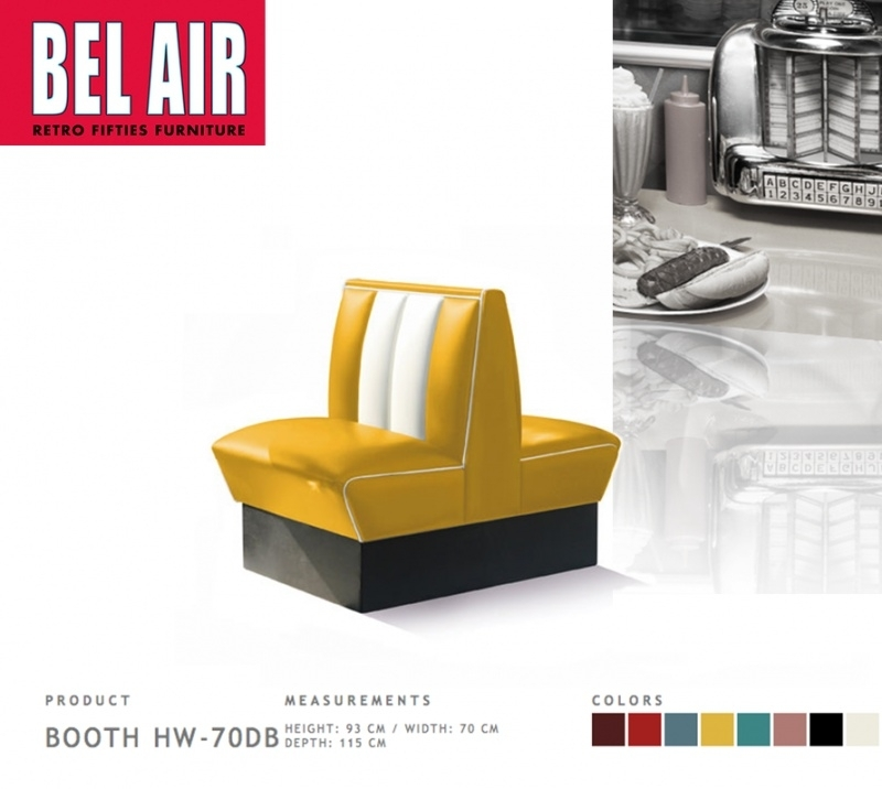 Bel Air Double Diner 50'ies HW-70DB / YELLOW