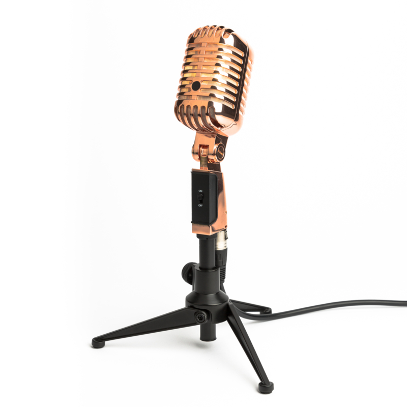 Microphone Stagg Tafellamp Rose Gold