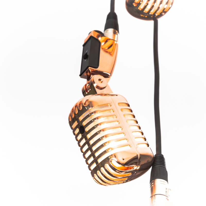 Microphone Stagg Hanglamp 3 x Gold Rose