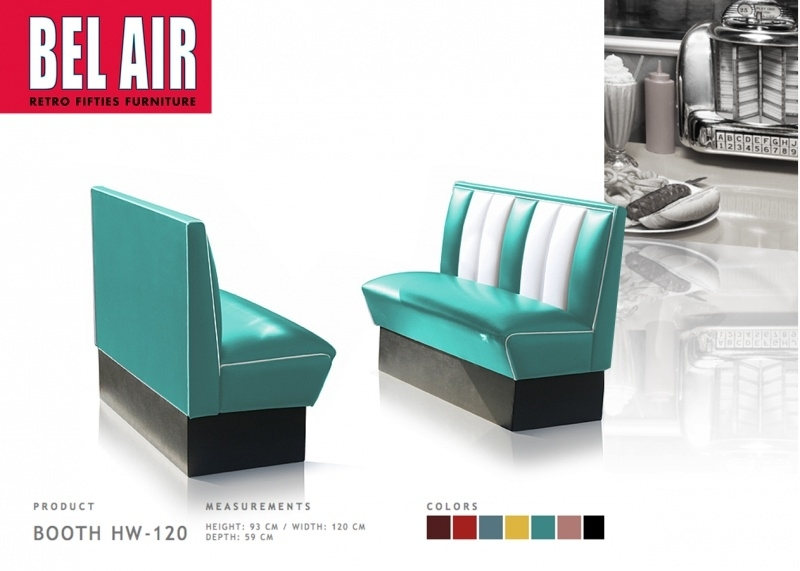 BelAir HW-120 Booth Diner / TURQOUISE