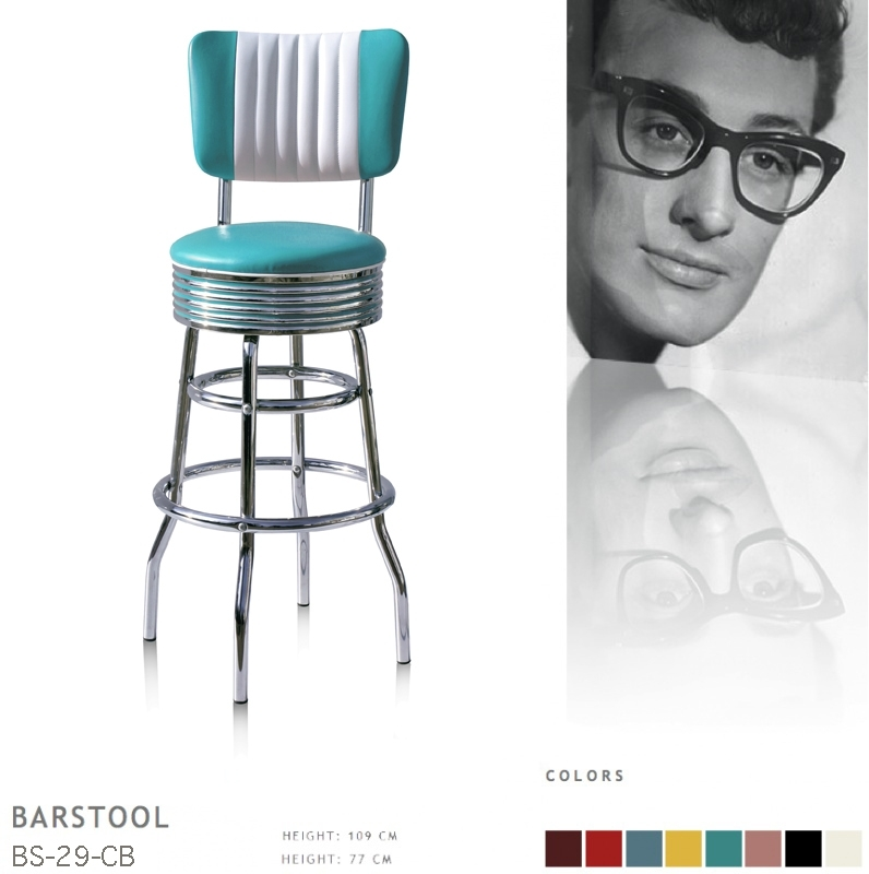 BS-29-77CB Bel Air barstool - turquoise