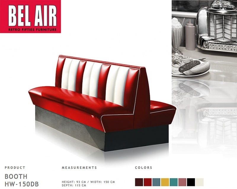 Bel Air HW-150DB diner retro booth, Ruby