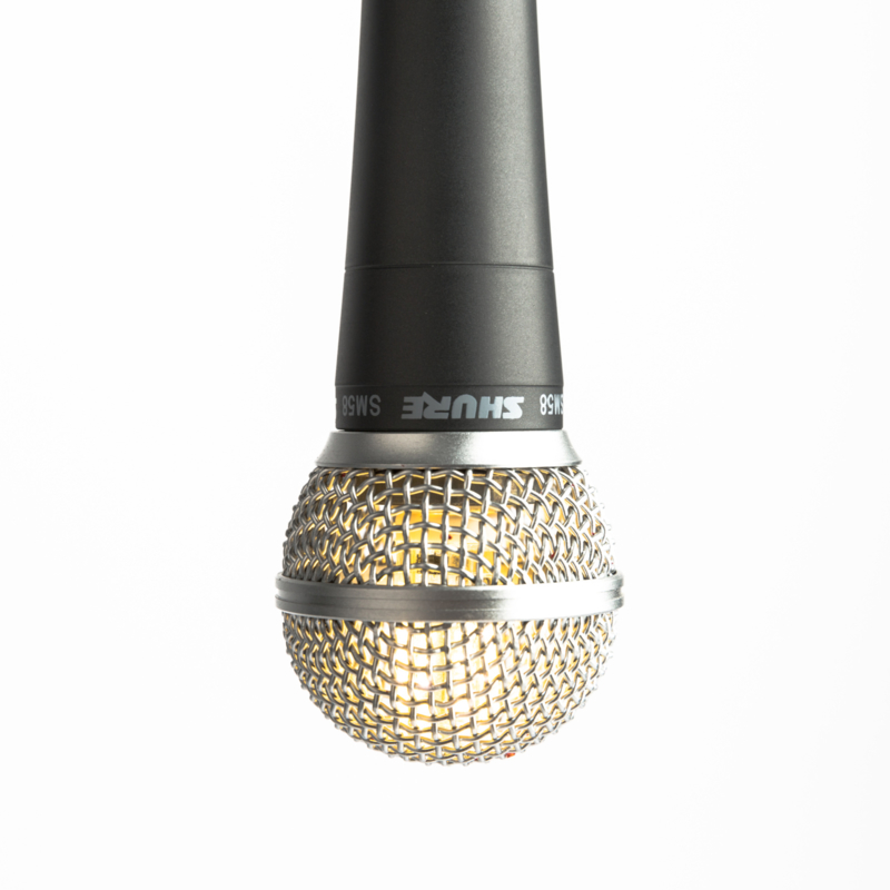 Microphone Hanglamp Shure SM58 Black