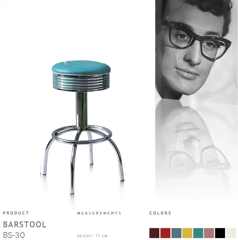 BS-30-77 Bel Air barstool - turquoise