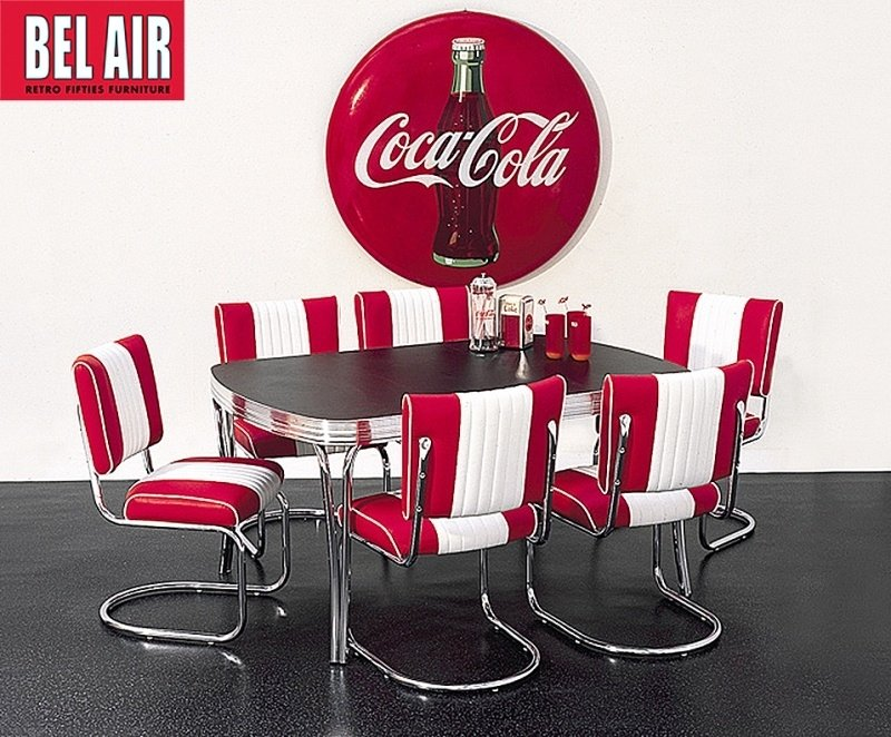 TO-27 Bel Air retro diner - eettafel