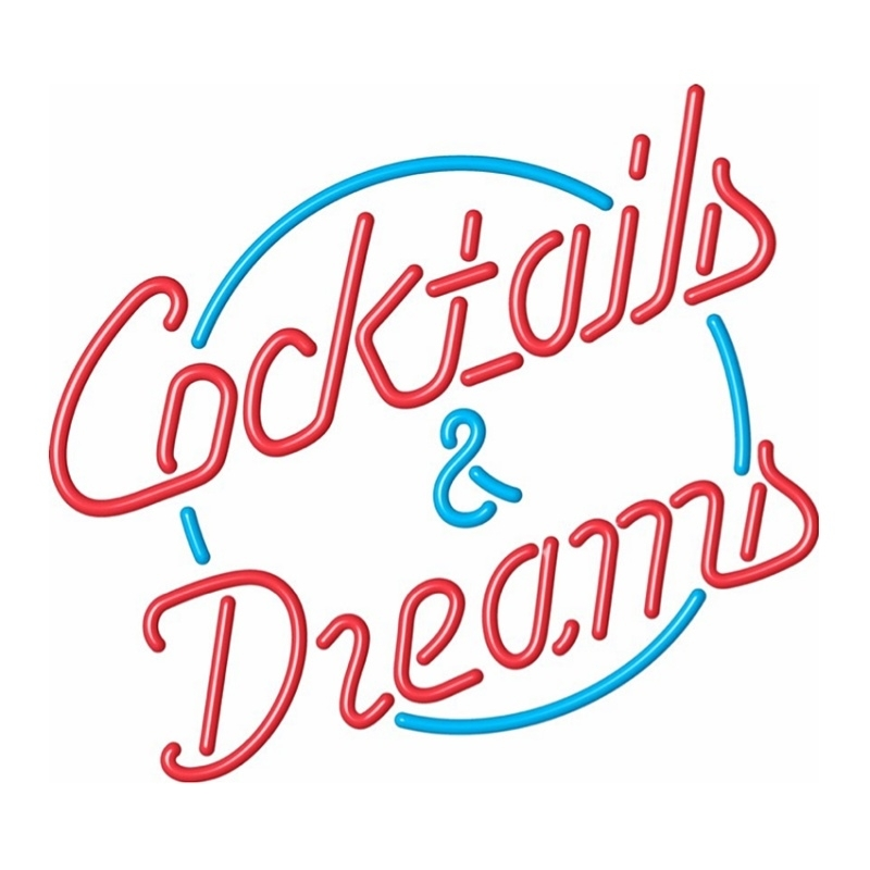 Neon verlichting - Cocktails And Dreams