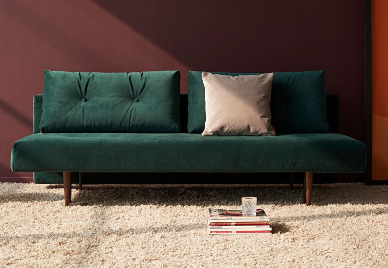 Recast plus loungebank - Velvet groen